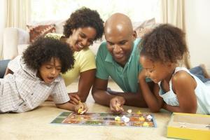 familyplayingboardgame